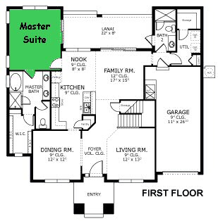 Wonderful Location Of The Master Suite (1) On The First Floor.